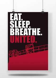 Manchester United A3 Poster Eat. Sleep. Breathe.