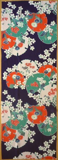 Japanese kimono pattern...want this as headboard fabric
