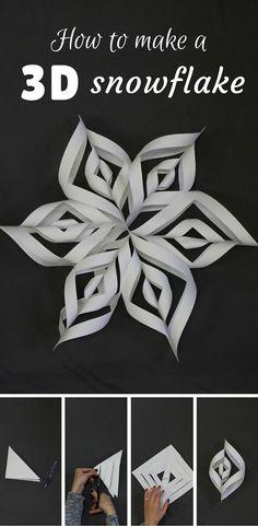 15 Super Ideas For Decor Christmas Diy Paper Snowflakes Christmas Art, Winter Christmas, Christmas Ornaments, Oragami Christmas, Diy Christmas Snowflakes, Holiday Crafts, Holiday Fun, Walking Holiday, Holiday Stress