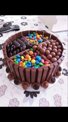 Numbered Birthday Cake With Smarties Amp Kit Kats Cake