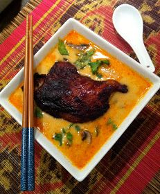 gastronomic nomad: Thai Yellow Curry Noodle Soup with Crispy Asian Duck