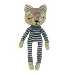 Patrón gratis de este elegante gatito a crochet