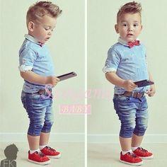 Abbigliamento-per-bambino-CD112-imposta-tuta-set-bel-ragazzo-di-neonato-vestito