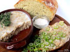 Rillettes de porc - pomazánka z vepřového masa Hummus, Pesto, Pickles, Appetizers, Cooking Recipes, Ethnic Recipes, Russian Recipes, Dips, Polish