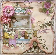 Layout: Sweet ~ Scrapbooking Inspiration ~ ♥ #scrapbooking #crafts #diy