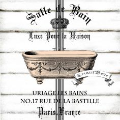 Bath shower french bathroom and bathroom signs on pinterest - Salle de bain shabby ...