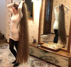 VIDEO Lucky mirror is part of braids - watch v that mirror is very lucky It has the priviledge to reflect the beauty of Alena and her amazing super t Long Hair Play, Grow Long Hair, Very Long Hair, Grow Hair, Beautiful Long Hair, Gorgeous Hair, Long Hair Ponytail, Long Hair Models, Perfect Blonde