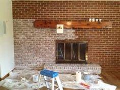 lime wash brick fireplace - Bing Images