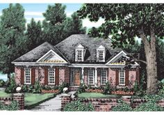 Regent - Home Plans and House Plans by Frank Betz Associates  #regent  #homeplans #frankbetz #floorplans #frenchcolonial