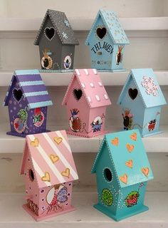 1000+ images about vogelhuisjes on Pinterest  Bird Tables, Hanging ...