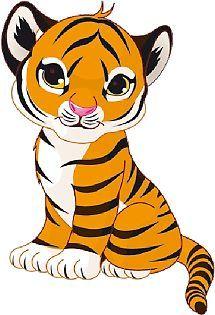 http images clipartpanda com cute tiger clipart black and white rh pinterest com Cute Tiger Head Clip Art cute tiger clipart vector