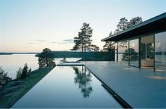 Lake front villa in Stockholm, Sweden.  Architects: John Robert Nilsson Arkitektkontor