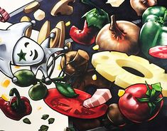 """Check out new work on my @Behance portfolio: """"Rolling Pizza"""" http://be.net/gallery/61782089/Rolling-Pizza"""