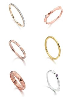 beautiful wedding bands from Monica Vinader