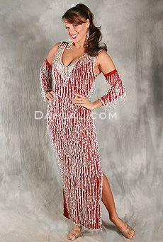 There is nothing more simple and easy than donning a shimmy dress and hitting the stage.  Be ready to perform in a jiffy with one of these.  This one is from Dahlal Internationale