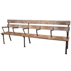 Antique English Colonial Rail Station Bench, 1930