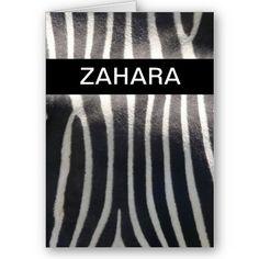 Perfectly Zebra Print Personalized Name card