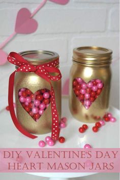 45+ Crafty Cute Mason Jar Ideas for Valentine's Day Gifting and Décor