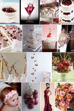 Theme: Life Is Just Bowl Full Of Cherries; Colors: Pink and Red \ BanquetEvent.com Weddings