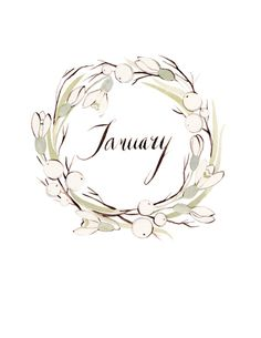 January wreath by Kelsey Garrity Riley (via Etsy).