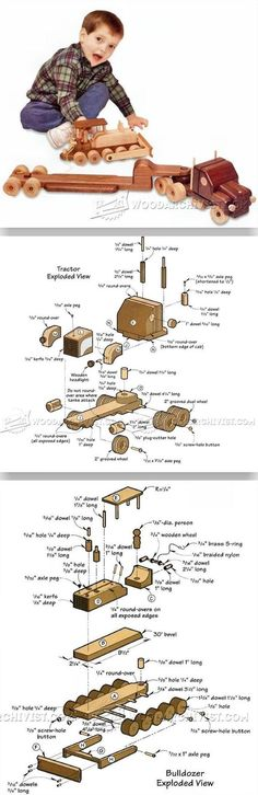 Wooden Toy Trailer Truck Plans - Wooden Toy Plans and Projects | WoodArchivist.com