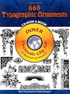 Clip Art Design Book and CD 1500 Decorative Ornaments from Dover Publishing