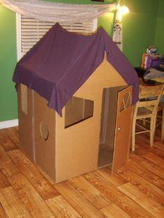 kreative kiste spielhaus f r kinder aus pappe karton mit beleuchtung selber bauen gro. Black Bedroom Furniture Sets. Home Design Ideas