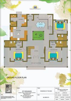 House Interior Traditional Floor Plans For 2019 Village House Design, Duplex House Plans, Kerala House Design, Bungalow House Design, Bedroom House Plans, Bungalow Floor Plans, Kerala Traditional House, Traditional House Plans, Free House Plans