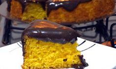 Receita de Bolo de Cenoura com Iogurte e Cobertura de Chocolate