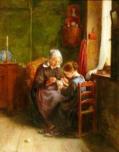 Grandmother and The Young Knitter