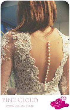 #Wedding#PinkCloud#Croptop# Lace#Pearls
