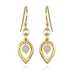 New Jade Peacock Drop Earrings #PeacockCollection #SatyaJewelry