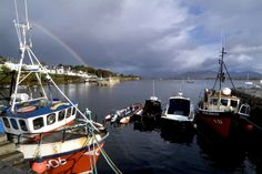 Old fishing boat in Roundstone, Connemara, Ireland Monaco, Wild Atlantic Way, Portugal, Cottage, Fishing Villages, France, Ireland Travel, Travel And Leisure, Fishing Boats