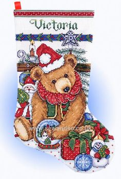 Shop online for Victorian Bear Stocking at sewandso.co.uk. Browse our great range of cross stitch and needlecraft products, in stock, with great prices and fast delivery.
