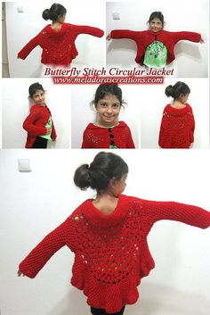 Butterfly Stitch Circular Jacket - Free Crochet Pattern and Video tutorials - Meladora's Creations