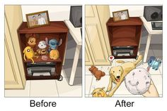 An Artist's Fond Illustrations of Life Before and After Owning His Golden Retriever - Neatorama