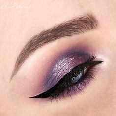 ✖️✖️✖️ @anastasiabeverlyhills Brow wiz in Dark Brown @anastasiabeverlyhillsdubai Eyeshadows: Deep Purple, Coal, Pink Champagne, Dusty Rose @makeupforeverofficial lashes in N-201 @inglotgcc Gel Liner 77 @glamgalscosmetics liquid metal shadows in 04 and 05