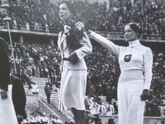 The fascinating, mysterious story of Helene Mayer, a Jewish athlete who competed for Germany in the 1936 Olympics (pictured after winning a silver medal in fencing, with her right arm outstretched in a Nazi salute). 1936 Olympics, Berlin Olympics, Summer Olympics, Leni Riefenstahl, Nazi Propaganda, Mystery, Jewish History, History Class, Sports Figures