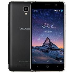 "Unlocked Cell Phones, DOOGEE X10 Dual Sim Smartphones With 5.0"" IPS Display - Android 6.0 - 8GB ROM - 2MP+5MP Dual Camera - 3360mAh Battery - GSM Unlocked Phone International - Black(no ads)"