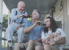 A father bottle feeding his baby   funny pictures