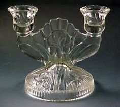 Iris and Herringbone Depression Glass...I collect it.  :)