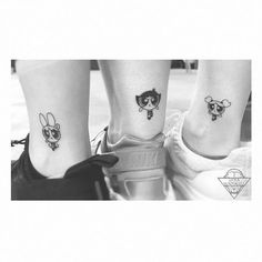 50 Matching Tattoos Sisters Can Get Together Today Pin is part of Matching sister tattoos - 50 Matching Tattoos Sisters Can Get Together Powerpuff Girls Sister Tattoos Sibling Tattoos, Bff Tattoos, Mini Tattoos, Small Tattoos, Tattoo Quotes, Tatoos, Cousin Tattoos, Small Sister Tattoos, Wrist Tattoos