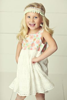 Hello, Lovely! Spring 2015: Sweet Smiles Dress and Darling Details Wrap Headband by Maya's Curls