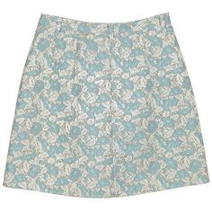 Sky Blue & Ice Grey Floral Brocade Skirt ❤ liked on Polyvore featuring skirts, bottoms, saias, faldas, flower print skirt, floral printed skirt, gray skirt, brocade skirt and floral print skirt