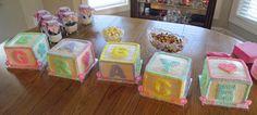 Baby Blocks Baby Shower Cake