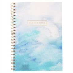 A4 Spiral Notebook - Watercolour, Blue