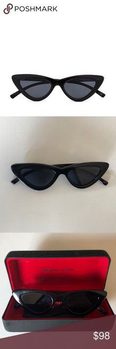 Adam Selman x Le Specs Cat Eye Black Sunglasses Adam Selman Last Lolita Black Cat Eye Sunglasses, brand new, only worn 2 times! With original case and cleaning cloth Adam Selman x Le Specs Accessories Sunglasses