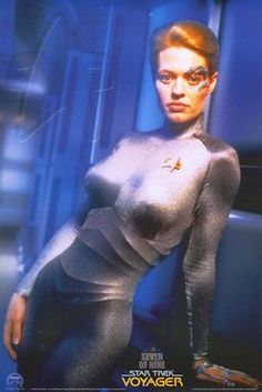 Star Trek Voyager. Mostly Seven of Nine. Best star trek character EVER, IMO.
