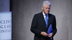 Former U.S. President Bill Clinton walks on stage at the Clinton Global Initiative. (AP)