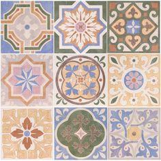 Carrelage design mural mat multicolore 20 x 20 cm - CE0111016